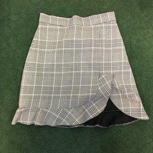 Zara Plaid Skirt